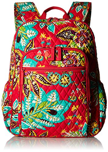 Women's Campus Tech Backpack, Signature Cotton, Rumba by Vera Bradley