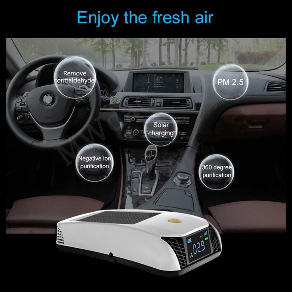 WWK Solar purificador de Aire, Coche ionizador de Aire, Filtro de ...