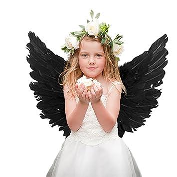 ES SE - Disfraz de alas de Hada de ángel con Plumas para Niños ...