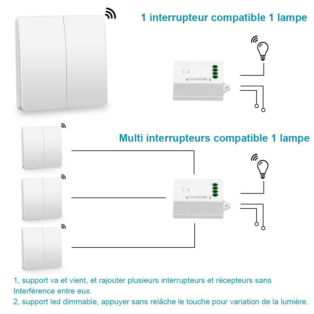 160m ÉtancheSupport Et 433mhzPortée Pile Cinétique Ip67 Colemeter Radiocommandé VientCompatible Interrupteur Kit Va Fil Sans Yf67Iyvbg