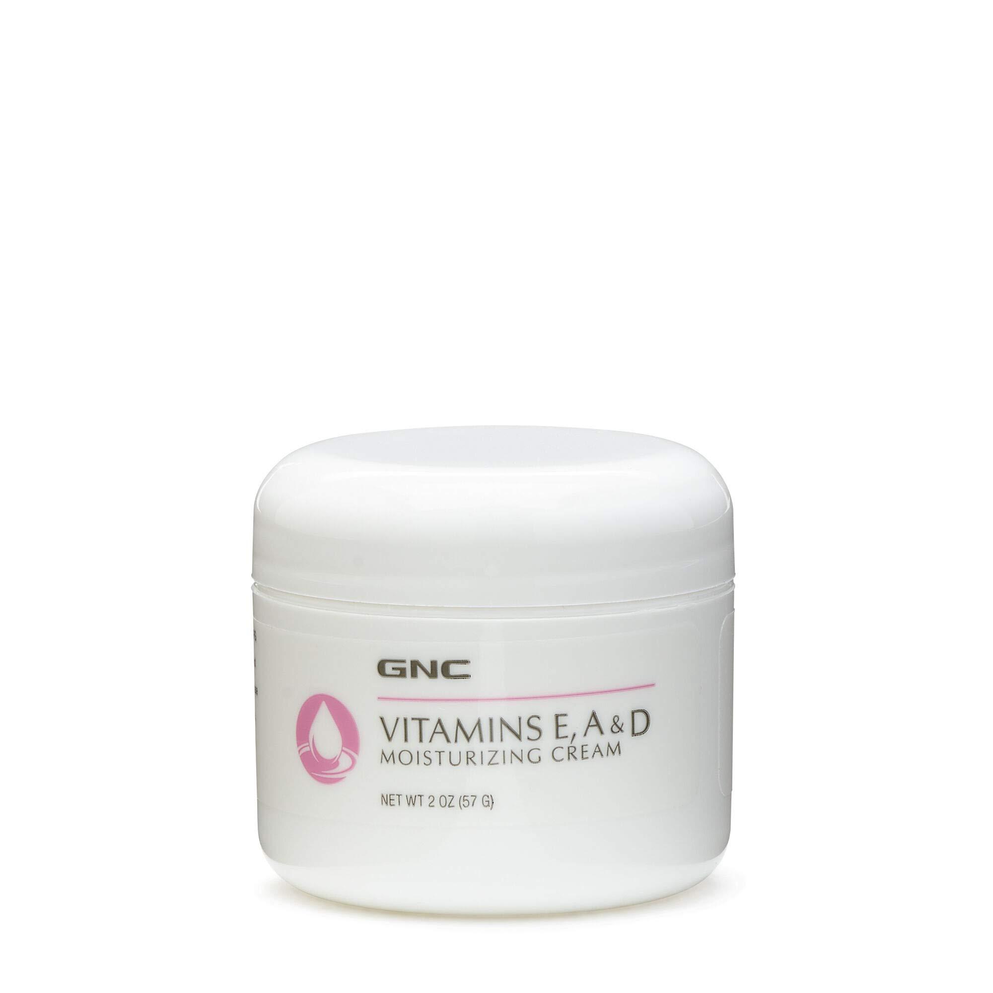 GNC Vitamins E, A & D Moisturizing Cream 2oz, Soothes Dry, Chapped Skin