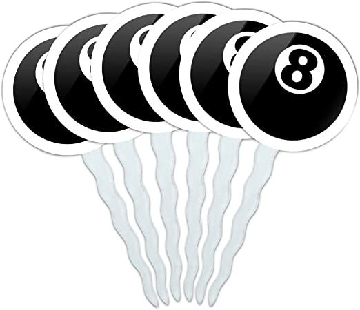 Pool Balls ~ Frosting Sheet Cake Topper ~ Edible ~ D22563