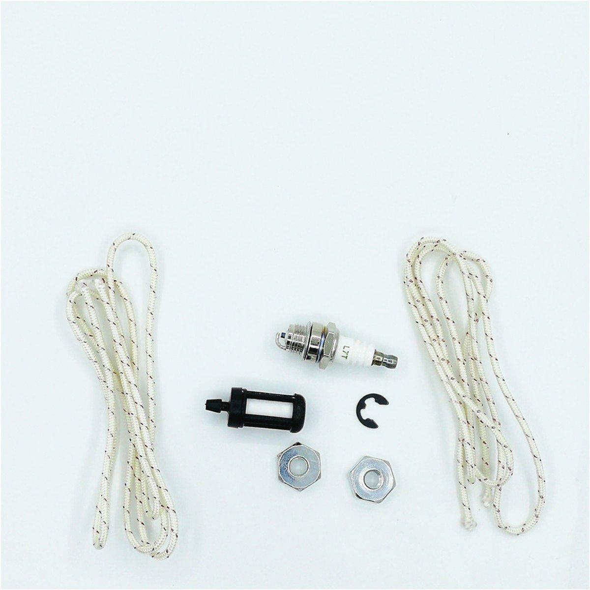 Barre de tron/çonneuse Corde de lancement /Écrous kit de bougie dallumage pour Stihl MS170/MS171/MS180/Ms181/Ms192t 009/010/012/015/017/018/019/# 00009550801