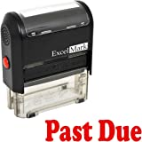 PAST DUE Self Inking Rubber Stamp - Red Ink