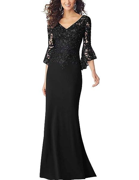 Amazon.com: PearlBridal - Vestido largo de noche para mujer ...