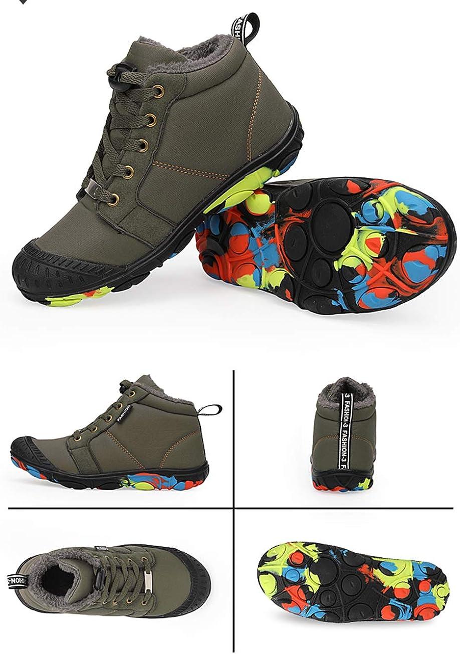 Gaatpot Bottes de Neige Enfants Gar/çon Chaud Chaussure de Hiver Fourrure Doubl/é Imperm/éable Bottines Chaussures de Sport 30-38EU