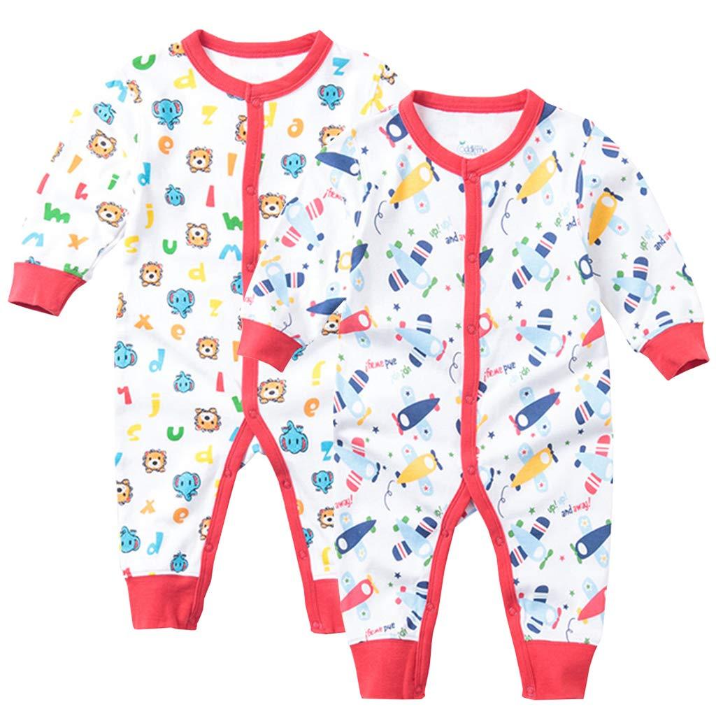 Pijama para Bebé Pack de 2 Niños Niñas Mameluco Manga Larga Pelele Mono Algodón Trajes 3-6 Meses ShenzhenWindyTradingCo. Ltd