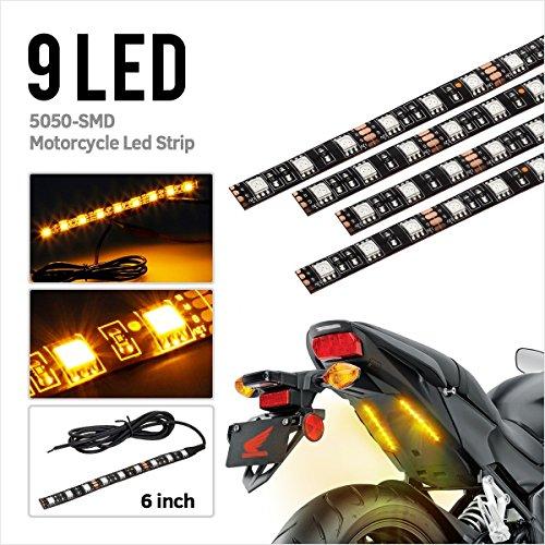 sal Amber 9 LED Rear Marker Brake Tail Light Motorcycle Street Bike Turn Signal Indicator Blinker Light (Street Glow Led Brake)