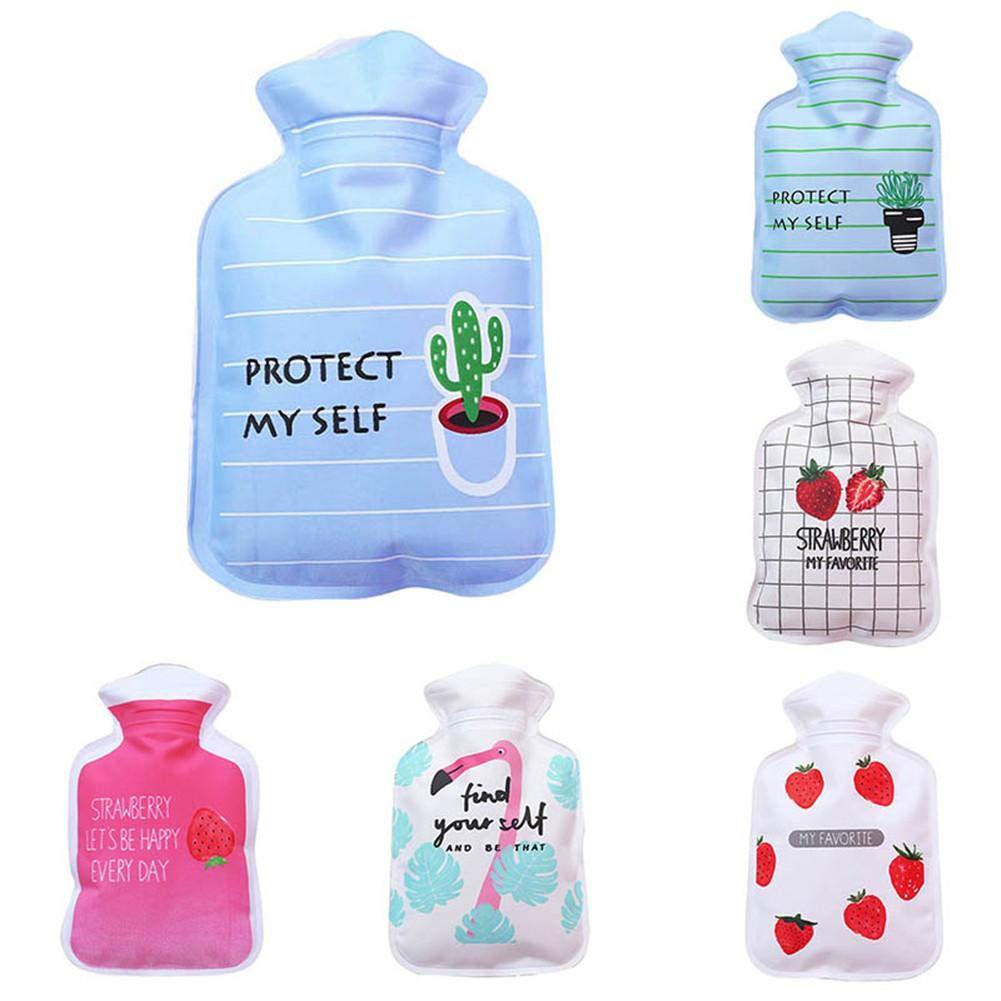 LeKing Portable Water Injection Hot Water Bottle Cartoon Mini Hand Warmer Mini Explosion-Proof Warm Water Bag