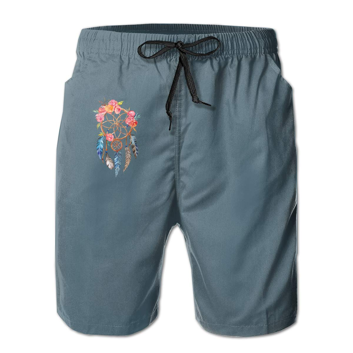 WWT Dream Catcher Mens Printed Funny Swim Trunks with Mesh Lining//Side Pockets