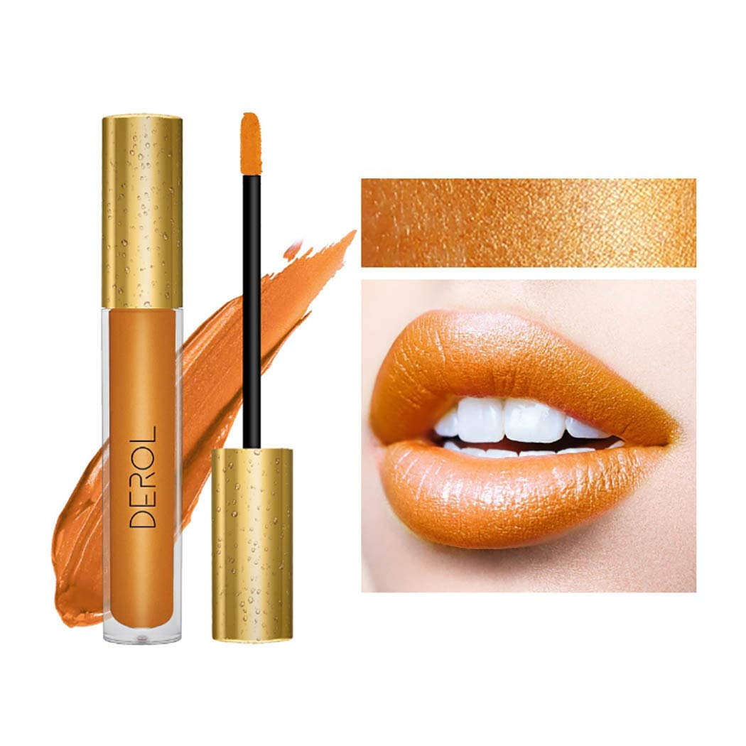 Edanta Matte Liquid Lipstick High Pigmented Cream Lipsticks Long Lasting lip Makeup Set for Women and Girls (Gold 15#)