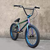 SWORDlimit Bicicleta de Estilo Libre de 20 Pulgadas BMX para Principiantes a Ciclistas avanzados, amortiguación de Alta Resistencia, Rendimiento 4130 Cuadro, 25x9T BMX Gearing, Color Brillante