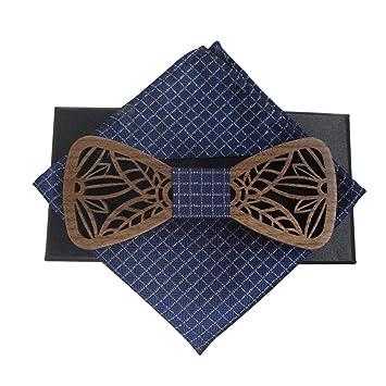 Inciple Pajarita de madera maciza Corbata de lazo clásica Juego de ...