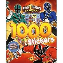 1000 STICKERS POWER RANGERS, SAMURAI
