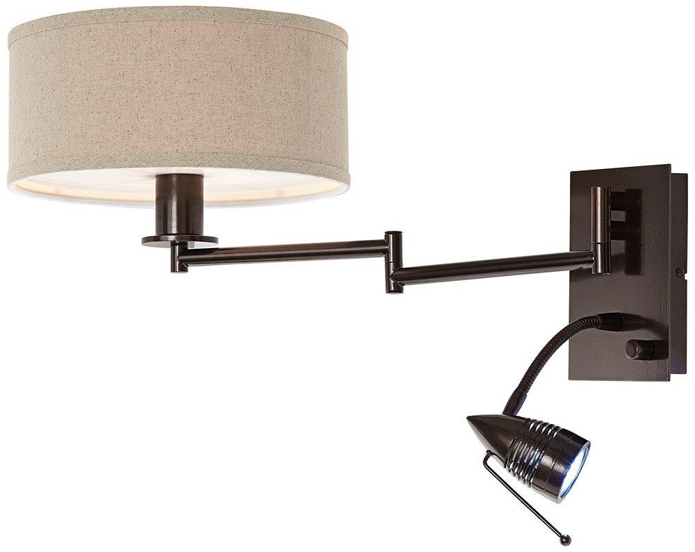 Possini Euro Radix Plug-In Tiger Bronze Swing Arm Wall Lamp