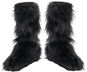 Disguise Kids Black Furry Boot Covers
