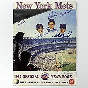 1969 Miracle Mets New York Mets Autographed Signed Official Year Book JSA Authentic