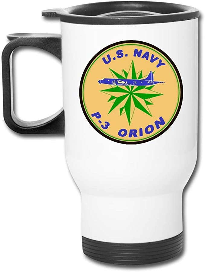 Amazon Com Us Navy P 3 Orion Squadron Car Cup Coffee Thermos Mug Stainless Steel Travel Cup Kitchen Dining