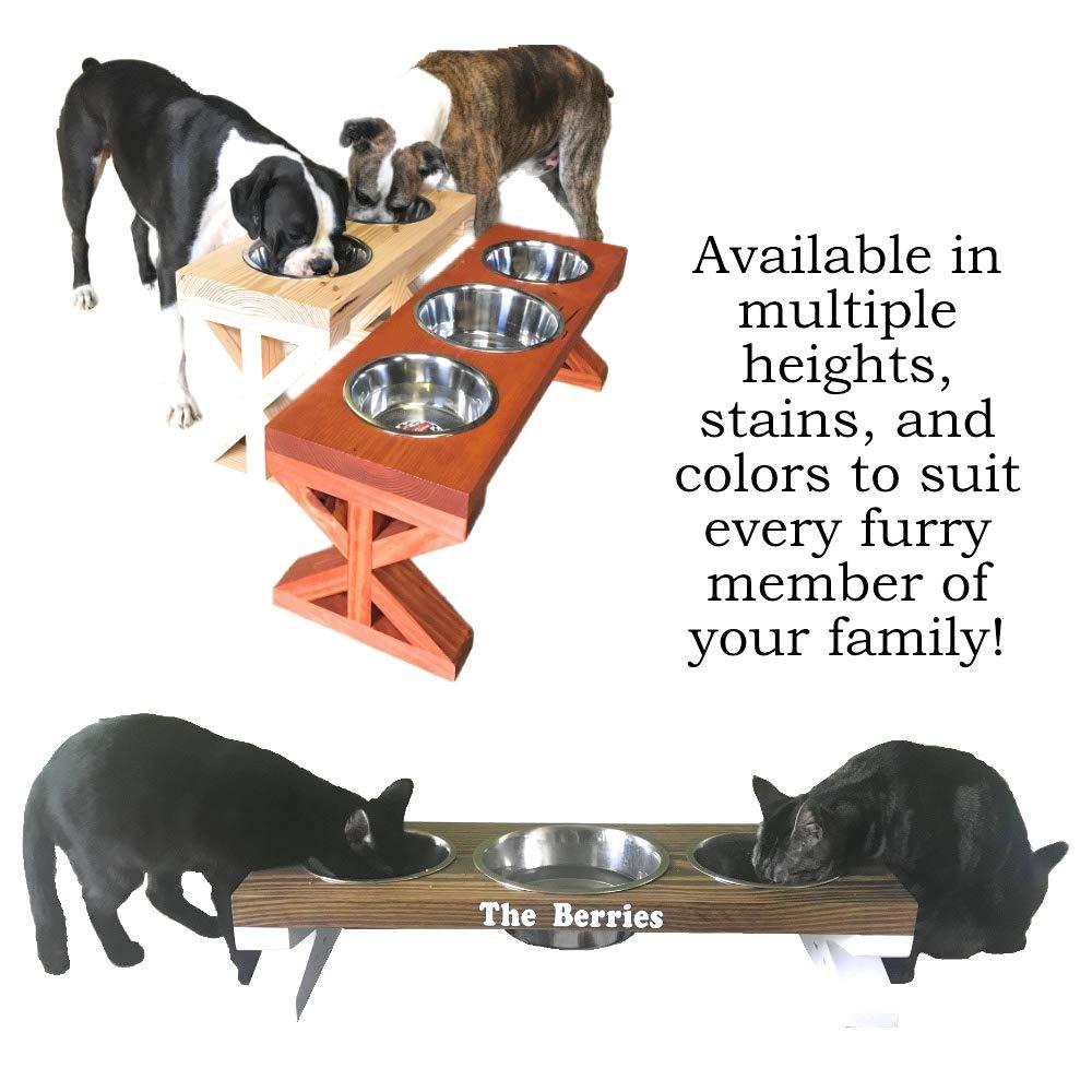 Custom Farmhouse Elevated Dog Food Bowls