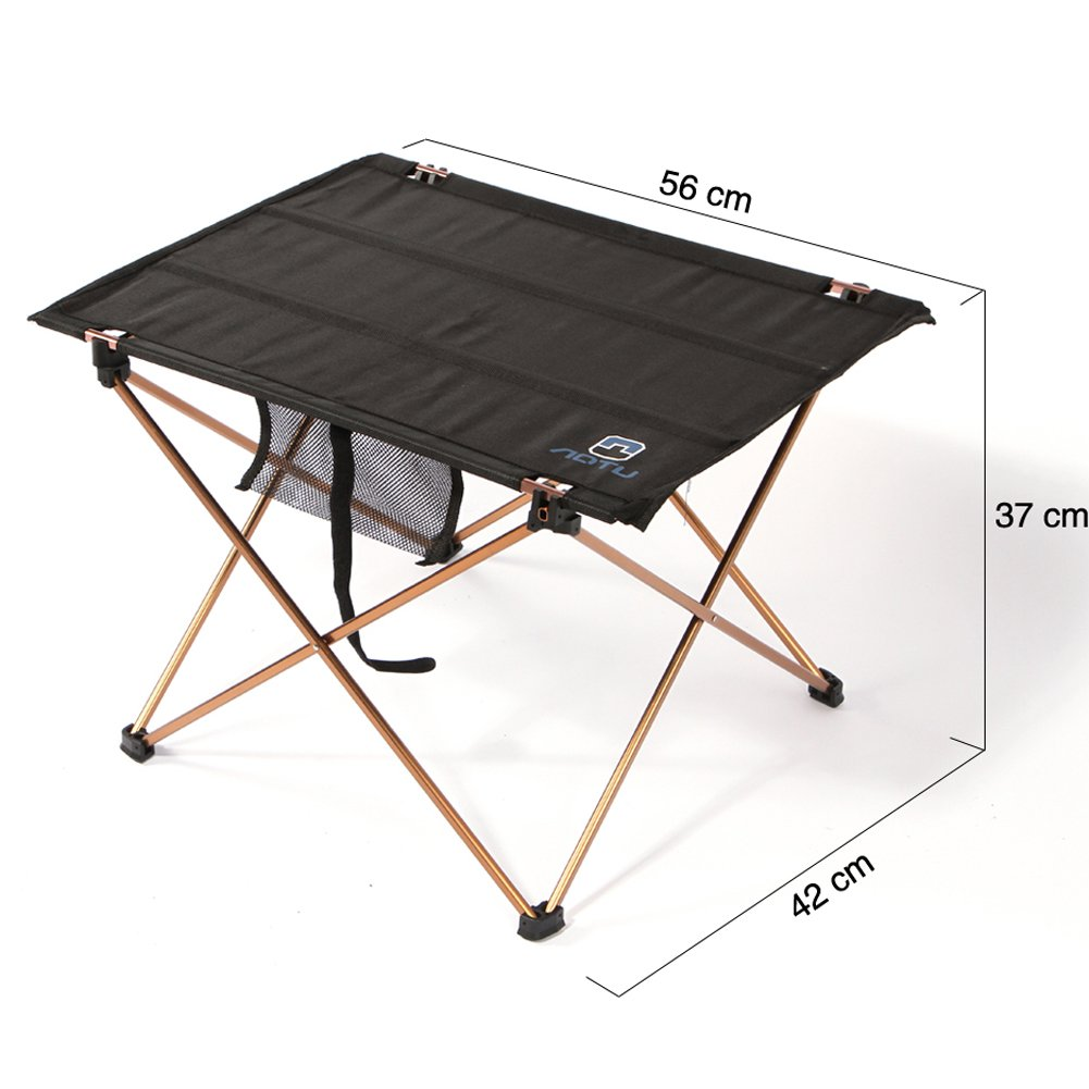 Xiaolanwelc 1pc Outdoor Folding Table Ultra-Light Aluminum Alloy Structure Portable Camping Table Furniture Foldable Picnic Table