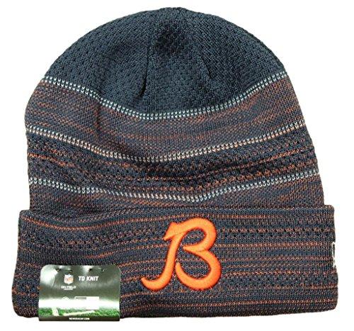 - Chicago Bears New Era B Logo 2017 Sideline Official TD Knit Hat - Navy