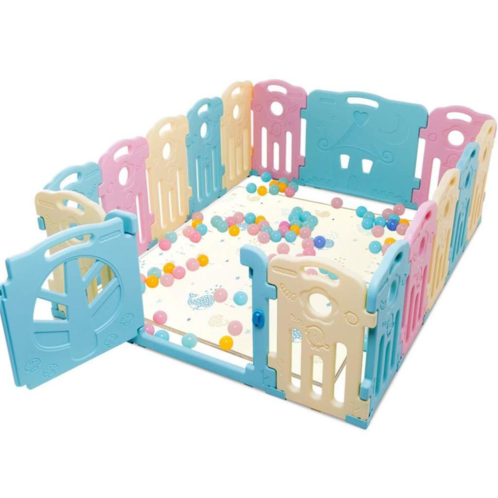 早割クーポン! 幼児や幼児のためのベビープレイプレーン 赤ん坊の安全塀 - 14/16 16/18パネル - B07QW7YP3Z - 携帯用遊び場 - パネルが付いている大きい屋内/屋外のプラスチック演劇のペン 16 pieces B07QW7YP3Z, 驚きの価格が実現!:2ce26c7d --- a0267596.xsph.ru