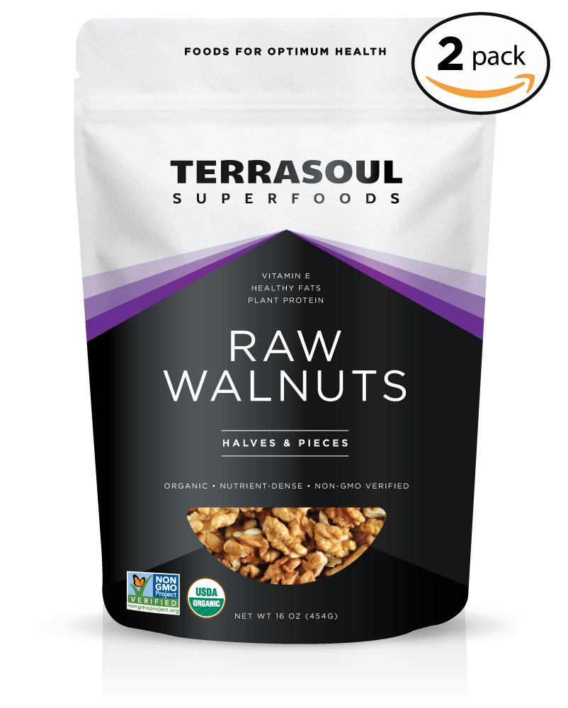 Terrasoul Superfoods Organic Raw Walnuts, 2 Pounds