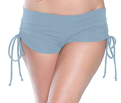 7af6d96e890 Delicate Illusions Drawstring Stretch Yoga Pole Fitness Scrunch Butt Shorts  XS (0-1)
