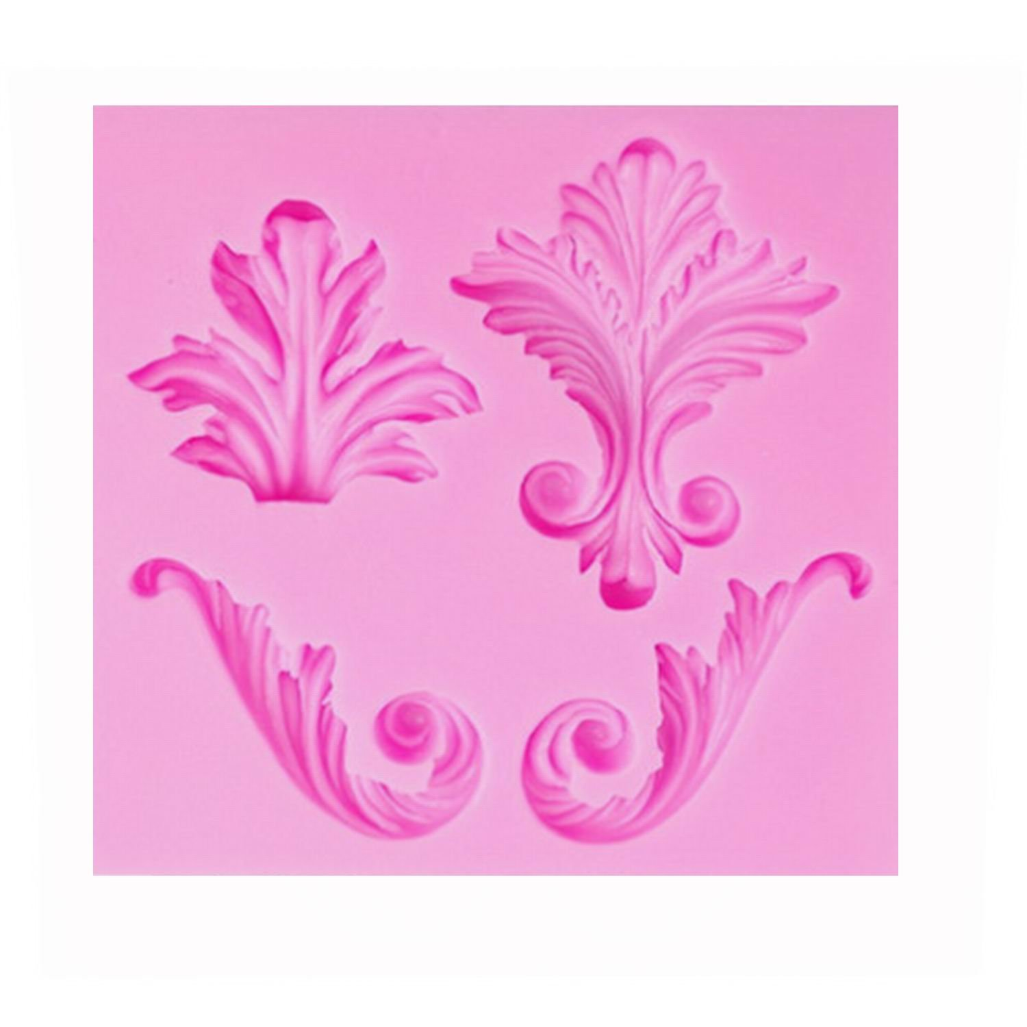 Palker sky Vintage Curlicue Lace and Scroll Silicone Mold for Cake Border Cupcake Topper Decoration, Sugar paste, Chocolate, Fondant, Resin, Polymer Clay Projects