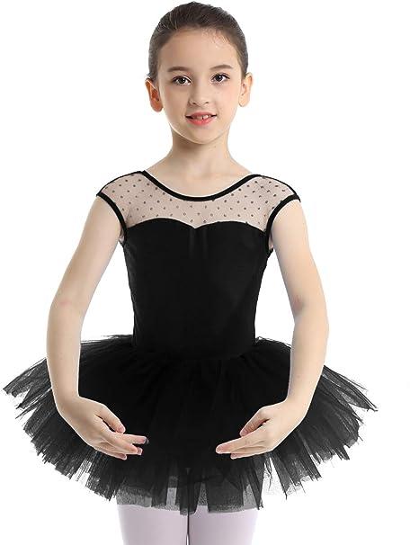 Girls Ballet Gymnastics Dance Leotard Tutu Dress U-shaped Back Ballerina Costume