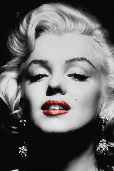 Amazoncom Marilyn Monroe Black White Red Lips Poster 20x30