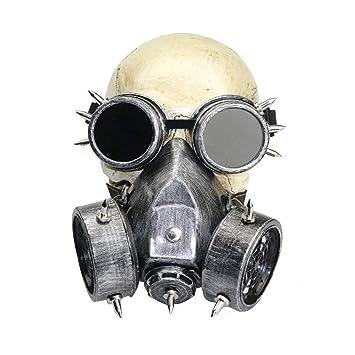 Kehuashina Gafas Femenina / Masculina Bruma Militar Niebla Steampunk Gas Máscara Fiesta Halloween Anime Cosplay Accesorios