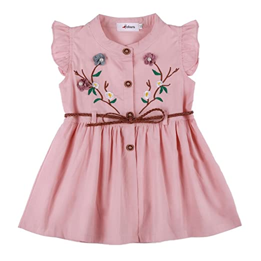 9eeaf80d1312 Amazon.com  Weixinbuy Toddler Baby Girl s Embroidered Flower Cotton ...