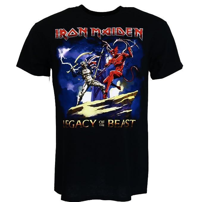 Iron Maiden Legacy Beast Fight Camiseta negro Oficial Con licencia Música: Amazon.es: Ropa y accesorios