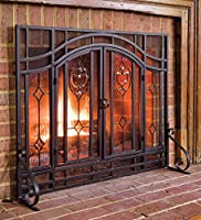Floral Fireplace Screen with Doors