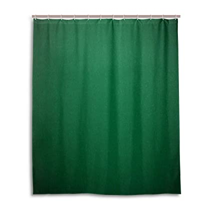Hunter Green Shower CurtainDigitally Created Plain Surface Vegas Color Holdem Artful Picture Print