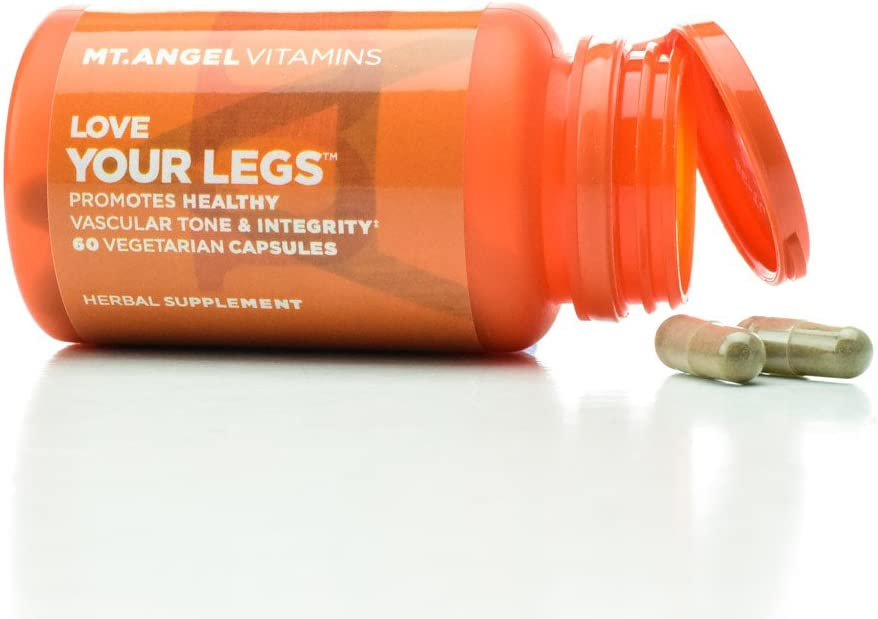 Mt. Angel Vitamins - Love Your Legs, Promotes Healthy Vascular Tone & Integrity (60 Vegetarian Capsules)