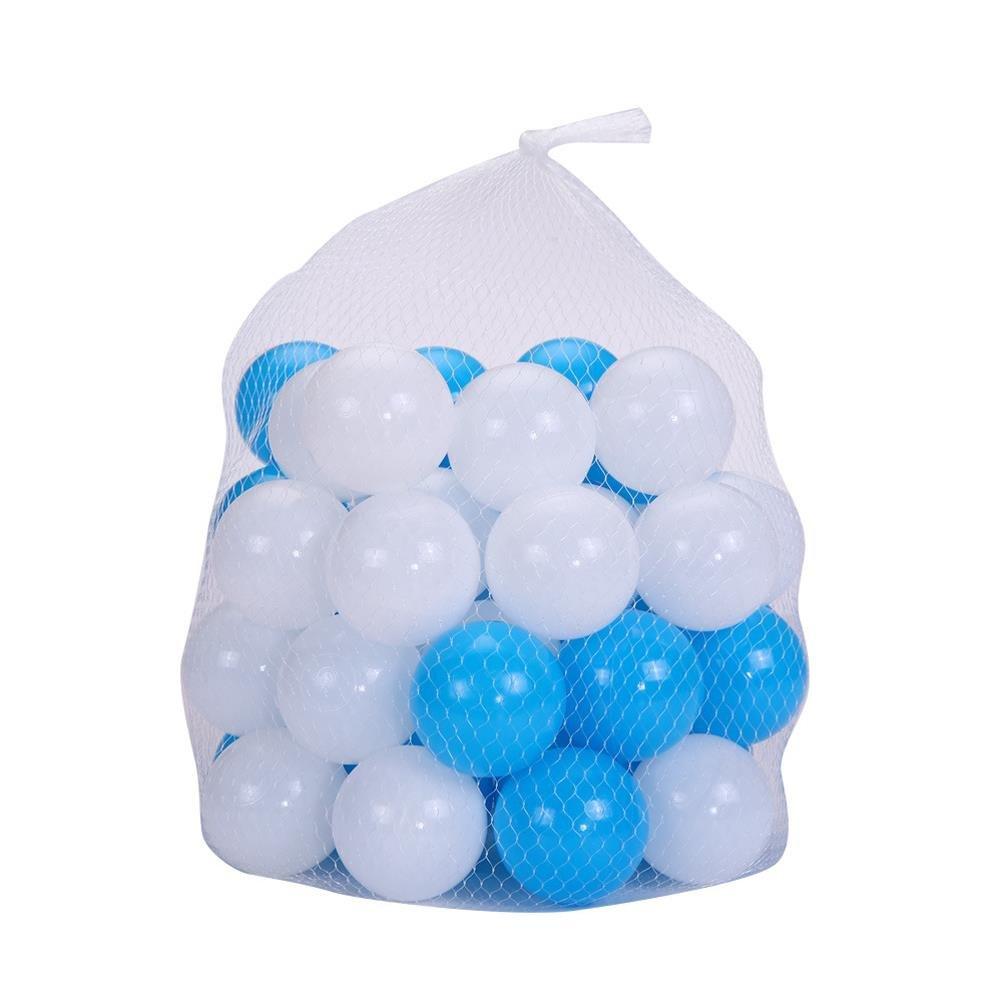 100 Pcs Pit Balls Magic Funball White 2 3/4 Inch Crushproof Kids Ocean Balls Thicken Soft Plastic BPA Free Air-filled Funny Baby Tent Balls Games Pool Playballs Kid Swim Pit Toy by Jiabetterniu