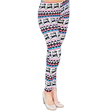 6f8cd488a Amazon.com  Tsmile Women Pants Lady Skinny Christmas Elk Printed Stretchy  Jegging Slim Leggings Pants  Clothing