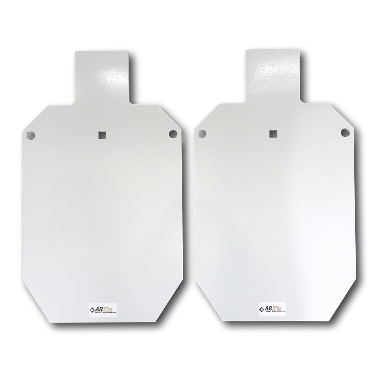 (b) Two Ar500 Steel Gong 12'' X 20'' X 3/8'' Silhouette Shooting Targets- Rifle Target
