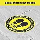 10 Pack Social Distancing Floor Signs, Keep 6