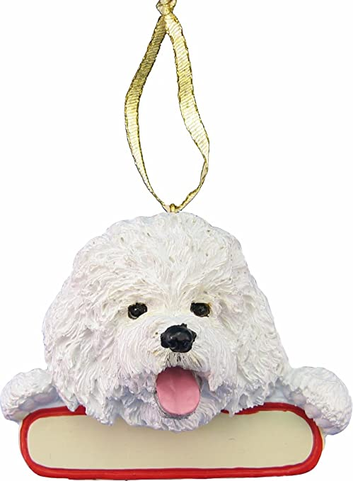 Bichon Frise Glass Blown Ornaments for Christmas Tree Home, Furniture & DIY