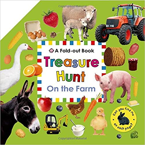 On the Farm Treasure Hunt A Fold-Out Book