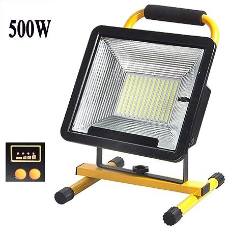 Lámpara Proyector Batería LED 500W 170Leds, Foco LED Recargable ...