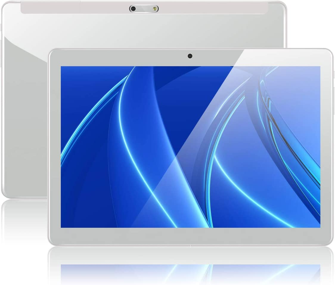 Padgene 10.1 Tablet PC Android 7.0 Quad Core 1280*800 2MP 5MP Ranuras para Tarjetas Dual Sim 3G Desbloqueado Built in WiFi Bluetooth GPS Netflix Google Play ,1GB 32GB, Blanco: Amazon.es: Informática