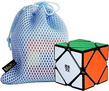 OJIN MoYu Skewb M 3x3 Magic Cube Speed Puzzle Smooth Brain Teaser Twist Juguetes para niños Adultos con una Bolsa de Cubo (Negro): Amazon.es: Juguetes y juegos