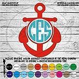 Anchor Monogram Vinyl Diecut Decal MGM90