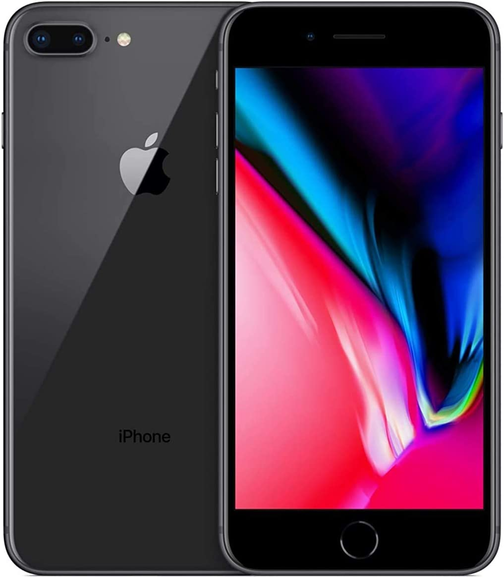Apple iPhone 8 Plus, 256GB, Space Gray - Fully Unlocked (Renewed)