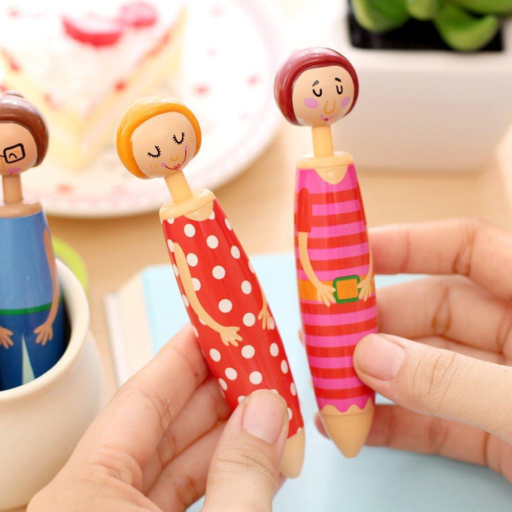 Lemoning Ball-Point Pen/ 5Pcs Lovely Doll Shape Pen Blue Ball-Point Student Stationery Office /& Stationery