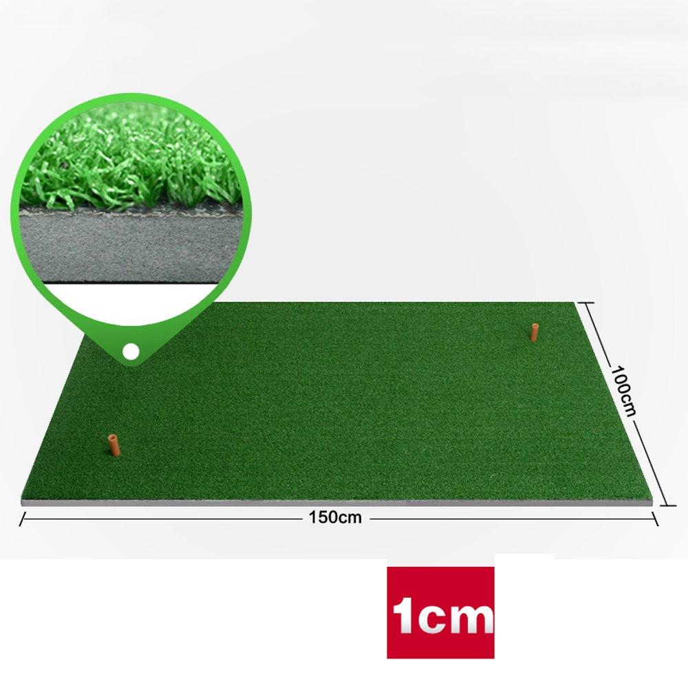 屋内ゴルフヒットパッドファミリー練習マットスイングエクササイザー費用対効果の高いより厚いバージョン1CM/2CM 150cm*100cm 1cm B07FNM1QM7